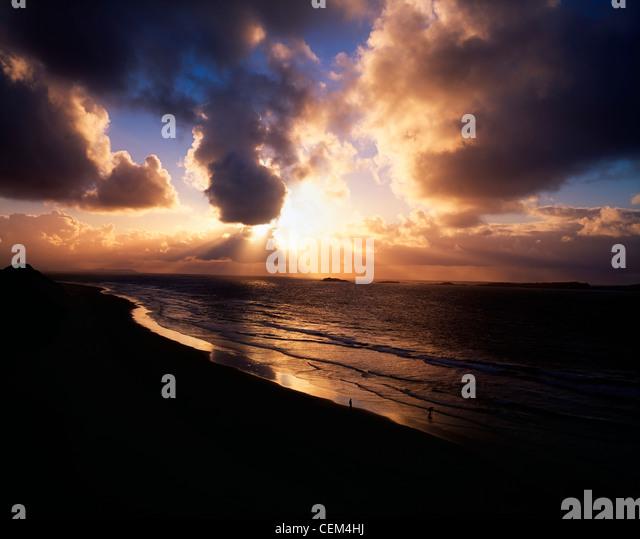 Sunset Near Portrush, Co Antrim, Ireland - Stock Image