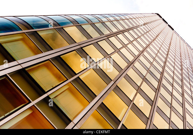 high modern office building - glass and steel - Stock Image