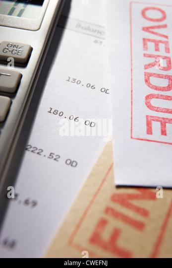 Debt concept - Stock-Bilder