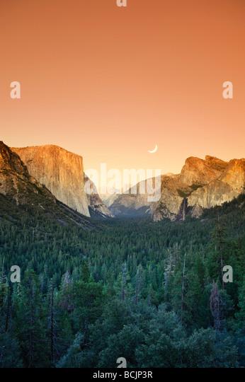 USA, California, Yosemite National Park, Yosemite Valley, Tunnel View - Stock-Bilder