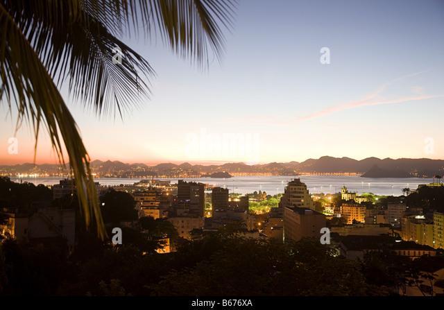 Rio de janeiro in the evening - Stock Image