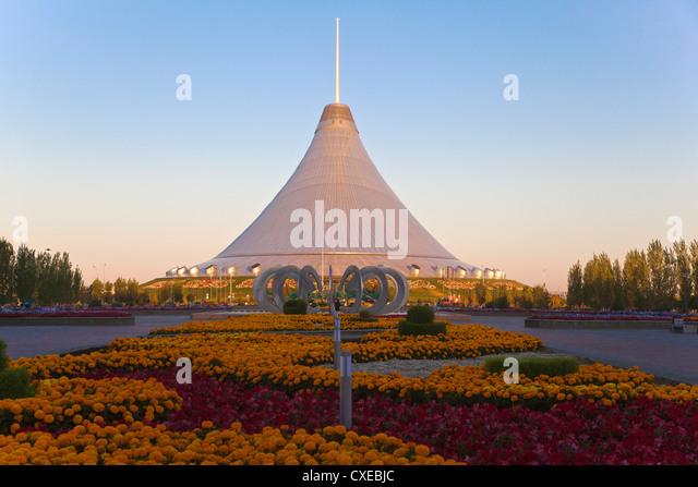 Khan Shatyr shopping and entertainment center, Astana, Kazakhstan, Central Asia, Asia - Stock-Bilder