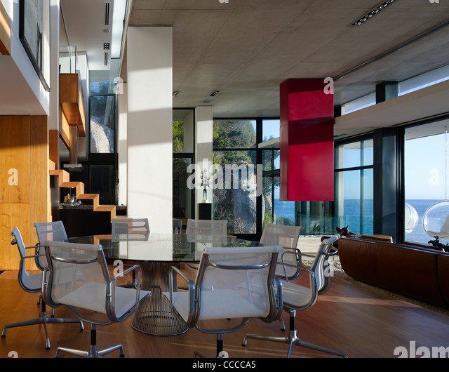 Eames house interior stock photos eames house interior for Best private dining rooms cape town