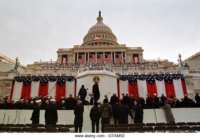 Inauguration of president clinton stock photos for First president to be inaugurated on january 20