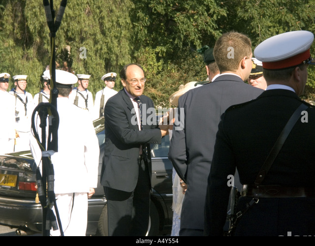 Peter Caruana The Chief Minister of Gibraltar arriving at the Honorary Freedom of the City of Gibraltar Ceremony - Stock Image