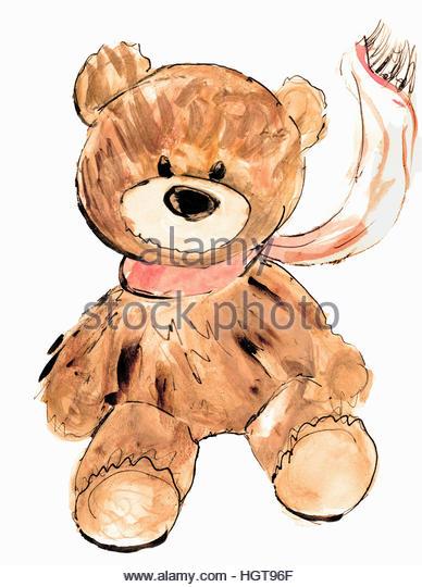 Portrait of teddy bear - Stock-Bilder