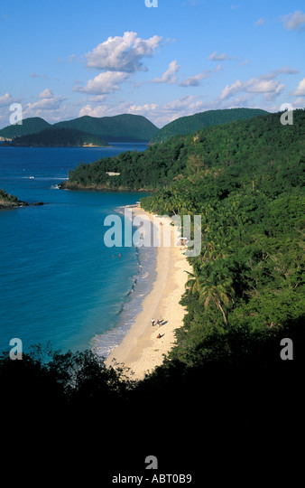 St John U S Virgin Islands Trunk Bay Beach - Stock Image