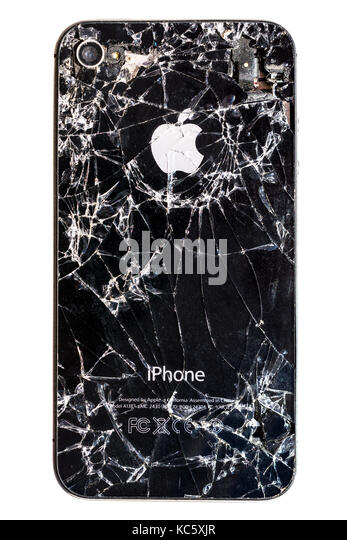 Smashed Apple iPhone 4. - Stock Image