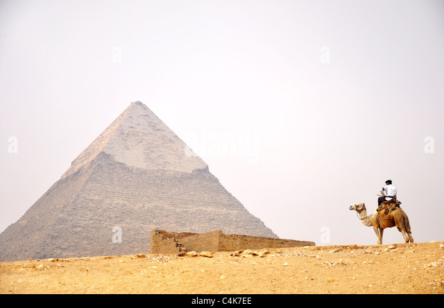 Landmark of the famous pyramid of Giza in Cairo,Egypt. - Stock Image