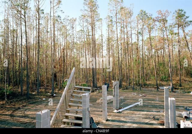 Remains after Hurricane Katrina, Pass Christian, USA - Stock Image