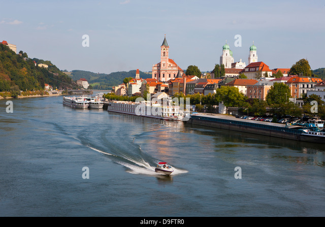 River Danube, Passau, Bavaria, Germany - Stock-Bilder