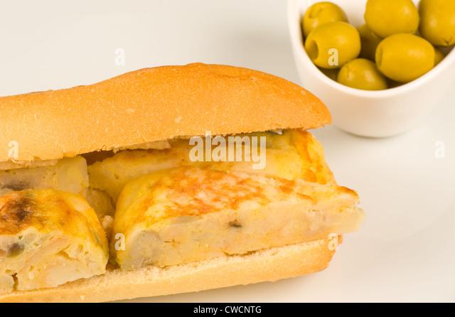 spanish omelette sandwich stock photos amp spanish omelette