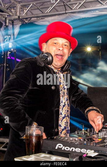 Craig Charles actor, radio presenter and DJ with his Funk and Soul show - Stock Image