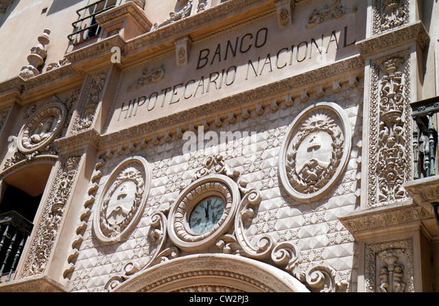 Mendoza Argentina Avenida Gutierrez Banco Hipotecario Nacional National Mortgage Bank building facade Spanish Renaissance - Stock Image