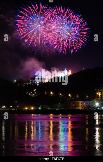 Ukraine, Kyiv, Celebrating of Independence Day - Stock Image