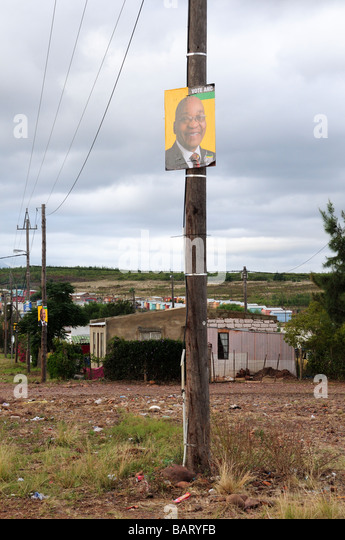 Election poster in a Township Swellendam South Africa - Stock-Bilder