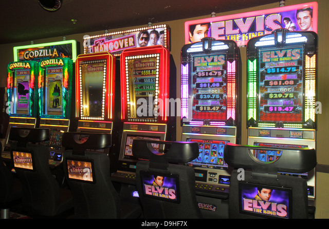 Nevada Las Vegas The Strip South Las Vegas Boulevard Circus Circus Hotel Casino slot machine machines gambling luck - Stock Image