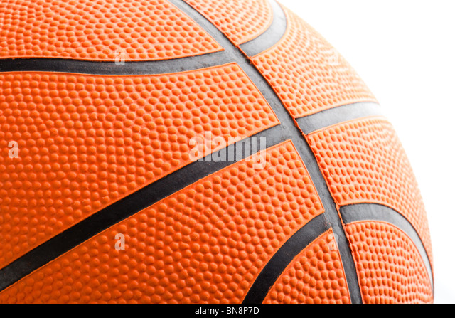 Orange Basketball close up shot - Stock Image
