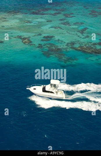 Bermuda boating ocean power boat - Stock Image