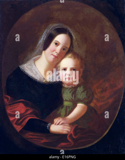 Mrs. George Caleb Bingham (wife) and Son Newton by George Caleb Bingham, 1841 - Stock Image
