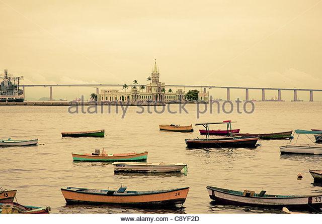 Harbour Rio De Janeiro Brazil - Stock Image