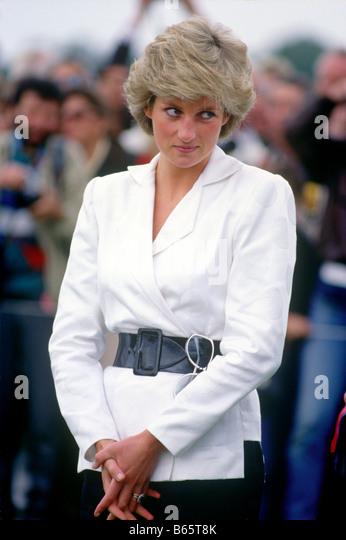 Princess Diana at Guards Polo Club Windsor UK - Stock Image