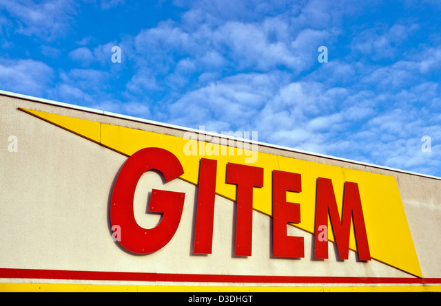 Gitem household electrical store - France. - Stock Image