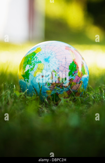 World globe ball - Stock Image