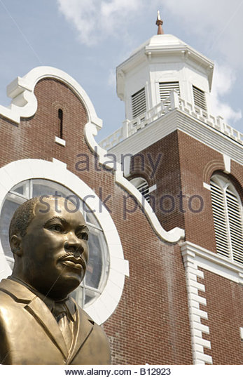 Selma Alabama Brown Chapel A.M.E. Church Martin Luther King Jr. Monument Civil Rights Movement segregation Black - Stock Image