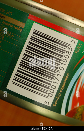Barcode food product stock photos barcode food product for Barcode food