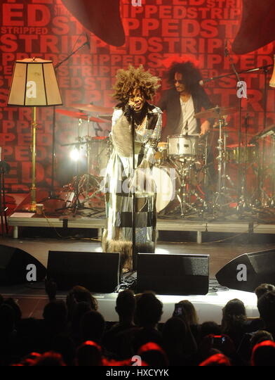 Brno, Czech Republic. 25th Mar, 2017. American singer Macy Gray performs in Brno, Czech Republic, March 25, 2017. - Stock-Bilder