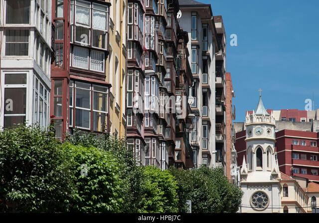City Center Architecture Santander, Cantabria, - Stock Image