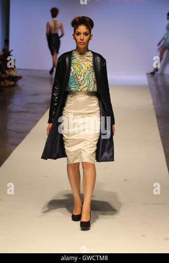 LONDON, UK - September 10: Tina Lobondi is showcased at the Africa Fashion Week London. © David Mbiyu/Alamy - Stock Image