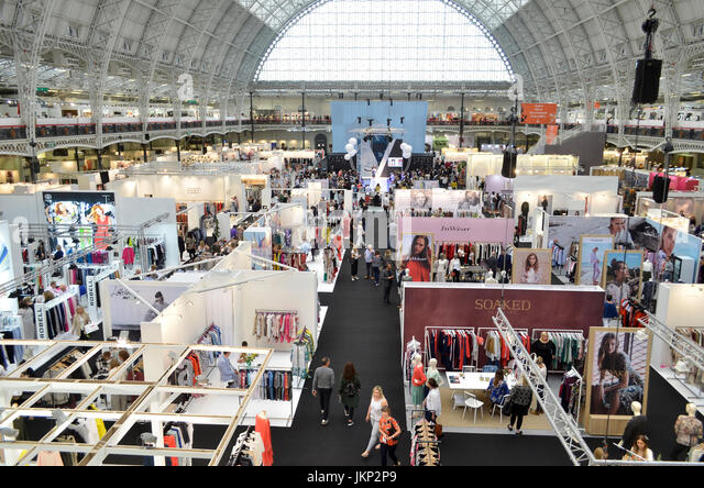 Trade Stands Olympia : Trade shows stock photos images alamy