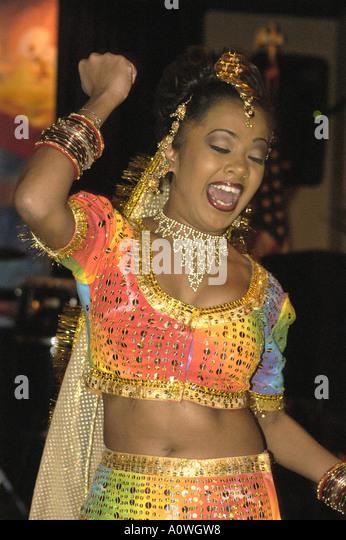 Trinidad Hindu festival dancer - Stock Image