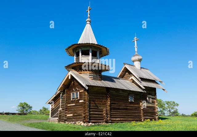 Russia, Karelia Kizhi Island - Stock Image