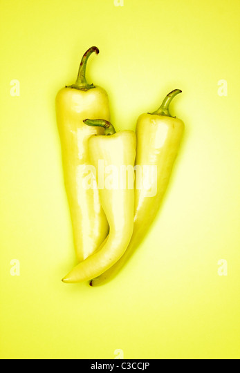 Banana Pepper - Stock Image
