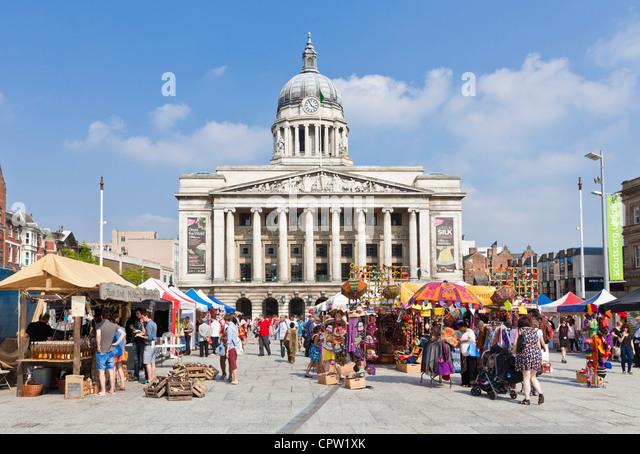 Council House in Old Market Square Nottingham Nottinghamshire England GB UK Europe - Stock Image
