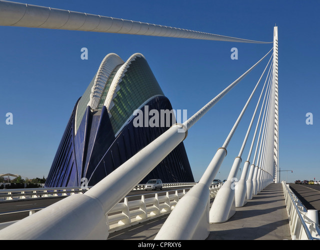 City of Arts and Sciences designed by Santiago Calatrava Valencia, Spain - Stock-Bilder