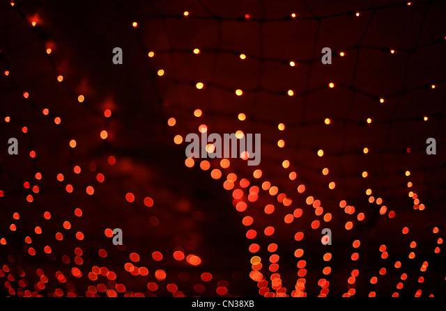 Red lights - Stock Image