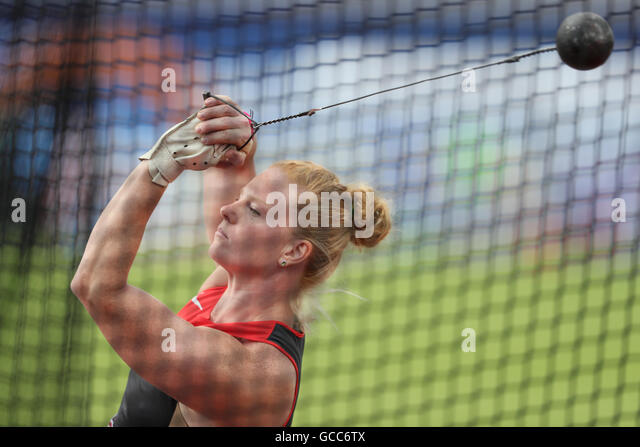 Amsterdam, The Netherlands. 08th July, 2016. Betty Heidler of Germany competes during the Women's Hammer Throw - Stock Image