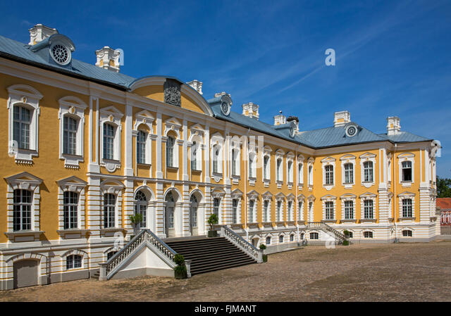 geography / travel, Latvia, Bauska, Rundale Castle,baroque, rococo, summer residence, Latvija, Baltics, Baltic area, - Stock-Bilder