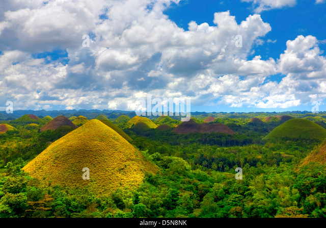 Chocolate Hills - Stock-Bilder