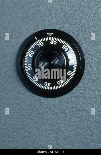 safe with combination dial - Stock Image