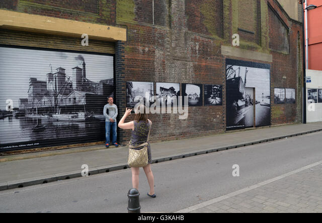 PhotoEast exhibition, Ipswich waterfront, Suffolk May 2016 - Stock Image