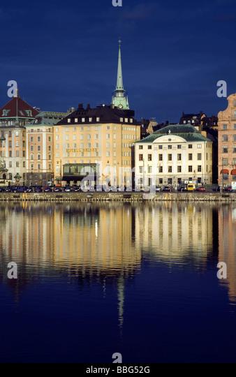 Gamla Stan and Tyskakyrkan, Stockholm - Stock Image