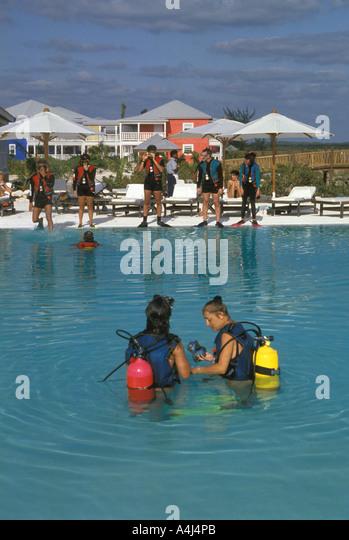Scuba diving class - Stock Image