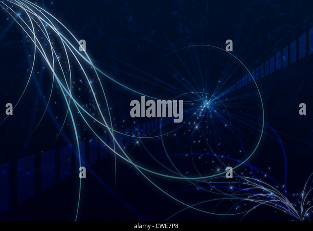Lights Making Curves, Abstract Pattern - Stock Image