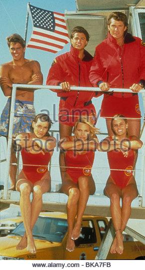 BAYWATCH (TV) KELLY SLATER, DAVID CHARVET, DAVID HASSELHOFF, ALEXANDRA PAUL, PAMELA ANDERSON, NICOLE EGGERT BYW - Stock Image