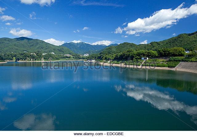 Sou Dam, Gunma, Kanto, Japan - Stock Image